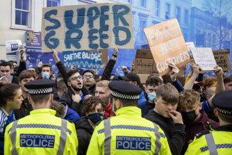 Chelsea fans were furious over the Super League plan.