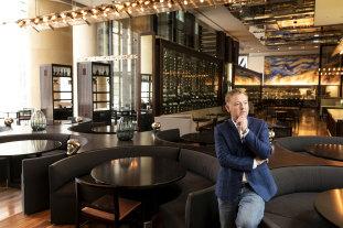 Chef Luke Mangan in his restaurant Glass Brasserie on Wednesday.