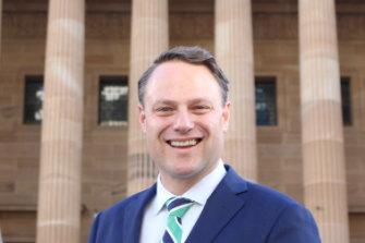 Brisbane's new lord mayor Adrian Schrinner.