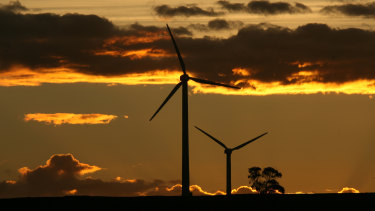 A wind turbine at Crookwell in NSW:  there's huge untapped potential in the state.
