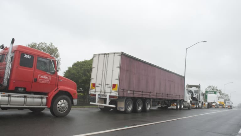 More than 12,000 trucks use the Ipswich Motorway each day.
