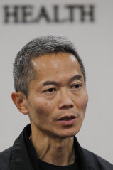 Wong Ka-hing, the controller of the Centre for Health Protection of the Hong Kong Department of Health, speaks during a press conference after the virus was detected on the island.