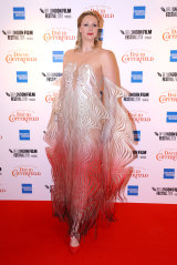 Gwendoline Christie wore this incredible creation from Iris Van Herpen to the European premiere of her new film.