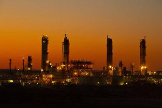 Santos's Moomba gas plant in the Cooper Basin, South Australia.