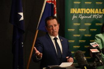 NSW Deputy Premier Paul Toole on Wednesday.