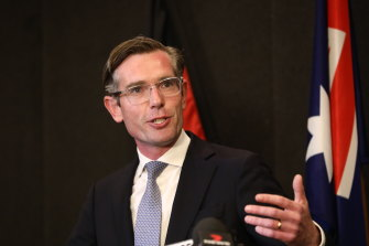 Newly elected NSW Premier Dominic Perrottet following a party room vote to establish a replacement for premier Gladys Berejiklian who resigned on Friday.