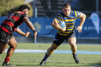 Former Wallaby Tom Robertson in action for Sydney Uni.