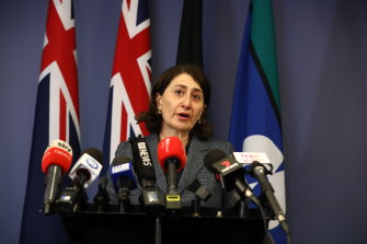 Gladys Berejiklian announces her resignation on Friday afternoon.