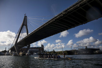 Rowing groups who use Blackwattle Bay have expressed safety fears over the redevelopment.
