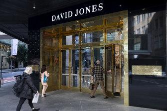 David Jones will keep its main stores open.