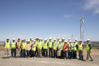 A new day: the Crookwell 2 wind farm's official opening in November 2018.