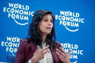 IMF chief economist Gita Gopinath says the global economy is rebounding strongly from the coronavirus recession.