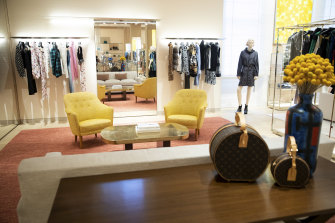 Inside the new Louis Vuitton store in Sydney.