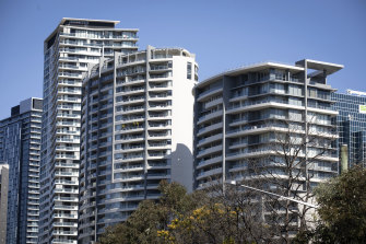 """Apartment buildings in Chatswood. Planning Minister Rob Stokes says Sydney's changing demographics require """"an increase in variety, not just an increase in volume"""" in housing."""