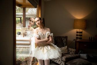 Elite ballerina Heléna Blackberry at her Brisbane home.