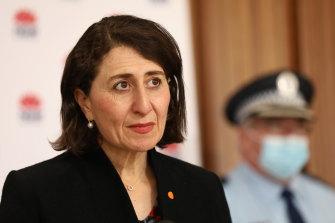 NSW Premier Gladys Berejiklian on Tuesday.