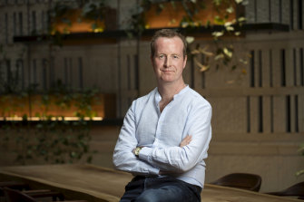 Deliveroo Australia chief executive Ed McManus has seen a surge in orders via hotel room service.