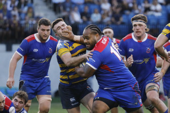 Manly and Sydney University face off at Manly Oval in the Shute Shield.