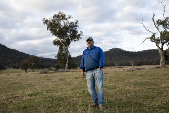 David Clarke at his Coxs Creek property which is in one of the areas designated for coal mine exploration.