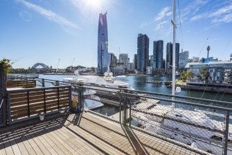Four office suites at Jones Bay Wharf in Pyrmont Sydney are on the market