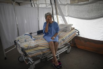 Nancy Rodriguez, a 76-year-old COVID-19 patient. The virus has hit Venezuela hard.