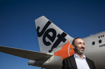 Jetstar chief executive Gareth Evans. The carrier is the first to open up direct flights to the expanded Busselton-Margaret River Regional Airport.