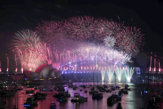Last year's New Year's Eve fireworks over Sydney Harbour.