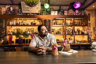 Pasan Wijesena, bartender owner operator of Jacoby's Tiki Bar in Enmore and Earl's Juke Joint in Newtown, has lost 95 per cent of his revenue since coronavirus lockdown.