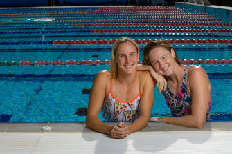 """Bronte (left) and Cate Campbell: """"The only reason I wanted to swim at the Olympics was because it was Bronte's dream to go and I didn't want to get shown up by my younger sister."""""""