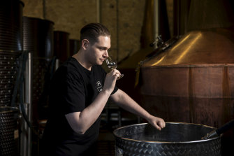Archie Rose master distiller Dave Withers in the company's Rosebery distillery.