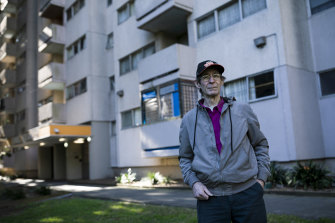 Waterloo Public Housing Action Group chairman Richard Weeks, pictured last year outside the estate's Marton building.