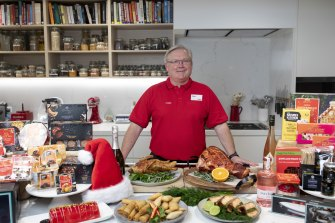 Coles chief executive Steven Cain is expecting shoppers to deck the halls this Christmas.