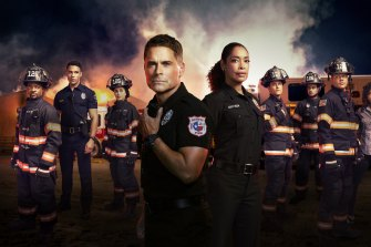 Rob Lowe in 9-1-1 Lone Star, to which producer Ryan Murphy brings his trademark style: agonised passion, queer heroes and horrifying escalation.