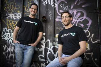Humanitix founders Adam McCurdie and Joshua Ross.