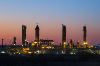 Santos and its merger partner Oil Search provided some of the markets biggest gains on Tuesday.