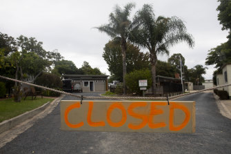 Caravan parks were forced to close during the first peak of the coronavirus pandemic in March.