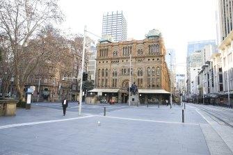Sydney city in lockdown on Sunday June 27.