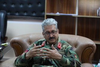 """General Mir Kohistani on the things left behind by the US: """"When you say 3.5 million items, it is every small item, like every phone, every door knob, every window in every barracks, every door in every barracks."""""""