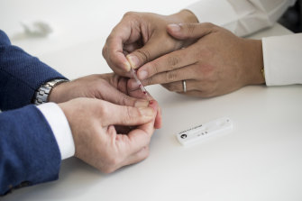 The government's fingerprick tests have been found not to work well enough.