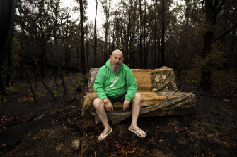 Phil Counsel is struggling to find a place to call home after his house was lost to the Mallacoota fires.