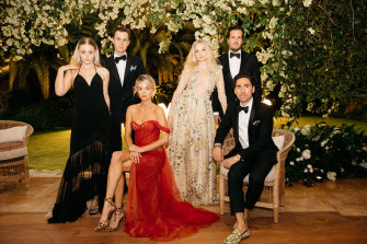 The young and the charitable: Xanthe Wetzler, Robert Oatley, Nadia Fairfax, Rae Temily, Tim Holmes A Court and Jack Bedwani play host at the White Caravan gala.
