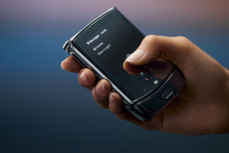 The new Razr lets users answer calls and more with the main screen folded shut.
