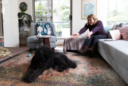 University of Sydney researcher Alison Williams has been working from home and enjoying the company of her dog, Poppy.