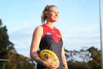 Tilla Harris de Melbourne es una de las atletas destacadas en la nueva aplicación web.