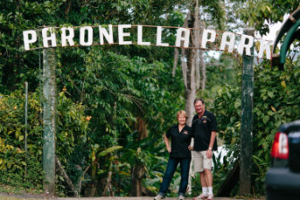Judy and Mark Evans helped revive Paronella Park after buying it in 1993.