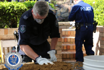 Police are expected to spend five days forensically searching the Bayview property for evidence.