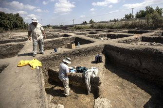 Archaeologists excavate the site in northern Israel.