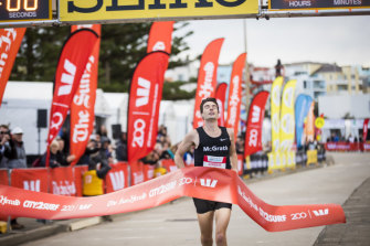 Harry Summers won the men's category in this year's City2Surf.
