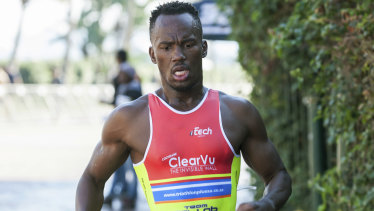 Triathlete Mhlengi Gwala was attacked by chainsaw-wielding assailants during a training ride.