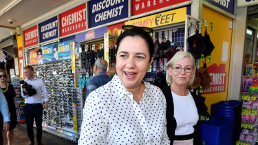 In the extremely marginal Labor-held seat of Bundaberg on Friday, Ms Palaszczuk announced an extra $200 million for the Works for Queensland program.